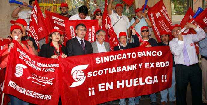 Trabajadores de Scotiabank recibidos por ministerio del trabajo
