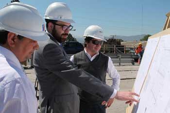 Inspeccionan trabajos en ex ruta 5 sur por ampliación de Membrillar