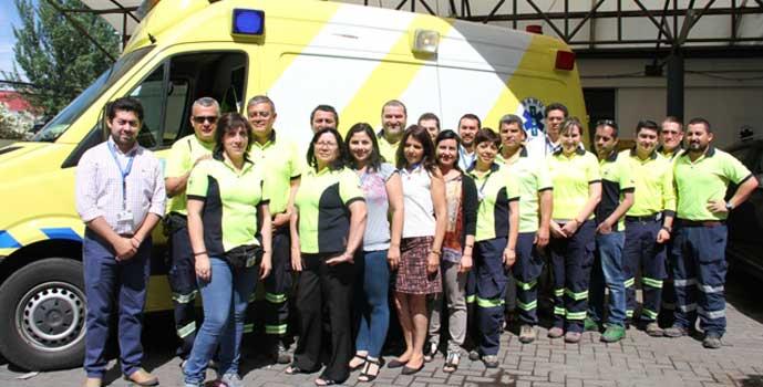 nuevas ambulancias en aniversario de SAMU OHiggins