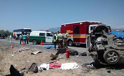 accidente vehicular camino a San Fernando