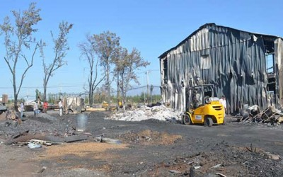 Incendio machali reciben ayuda