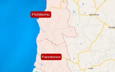 Pichilemu Paredones mapa