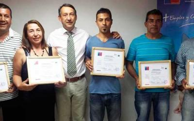 Machalinos certificados como enfierradores