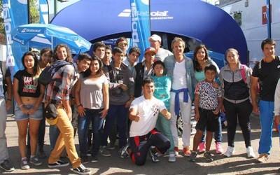 escuela de tenis municipal en copa davis