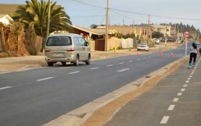 Vecinos de Pichilemu celebran mejoramiento de Avenida Cáhuil