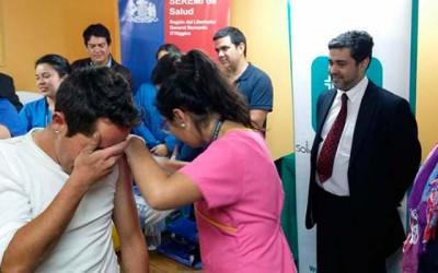 Vacunacion contra influenza hogar de cristo