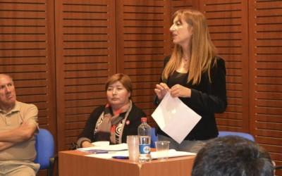 Alyson Hadad se reune Asistentes de la Educacion