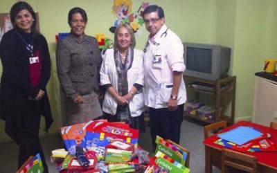 Hospital de San Fernando donacion utiles escolares