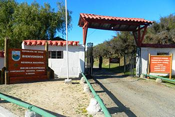Reserva Nacional Rio Los Cipreses ingreso