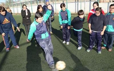 Jovenes down participan entorno a copa america