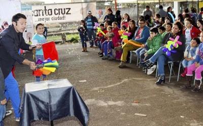 santa cruz Barrio Pablo Neruda luminarias