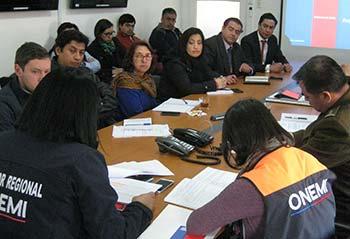 Onemi trabajo de actualización del Plan Regional de Emergencia