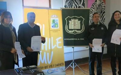 Gendarmeria convenio municipio Pichilemu