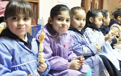 Machali alumnos jardin infantil tia mirella