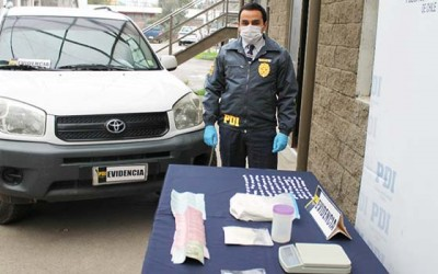 PDI incauta mas de medio kilo cocaina Rancagua