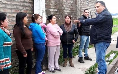San Fernando alcalde comparte vecinos afectados temporal