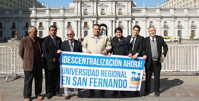 San Fernando visita La Moneda Universidad regional