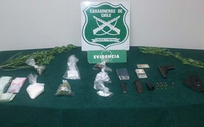 Carabineros Droga dos detenidos Mostazal