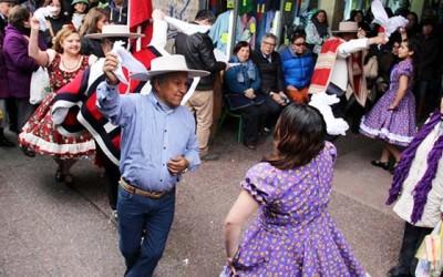 Fiestas Patrias barrio Brasil bienvenida