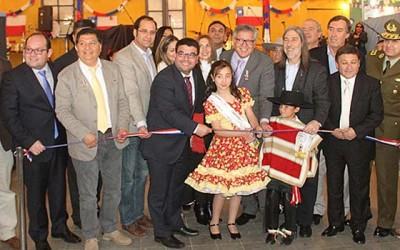 Fiestas patrias alcalde inaugura fondas