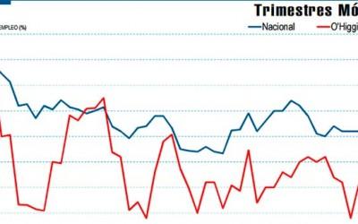 INE OHiggins tasa de desocupacion