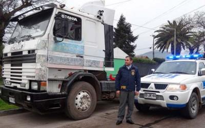 PDI recupera camion robado en Santiago