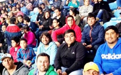 Vecinos de Graneros visitan estadio El Teniente