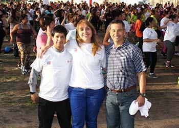 300 personas participan en Zumbaton del Sistema Elige Vivir Sano