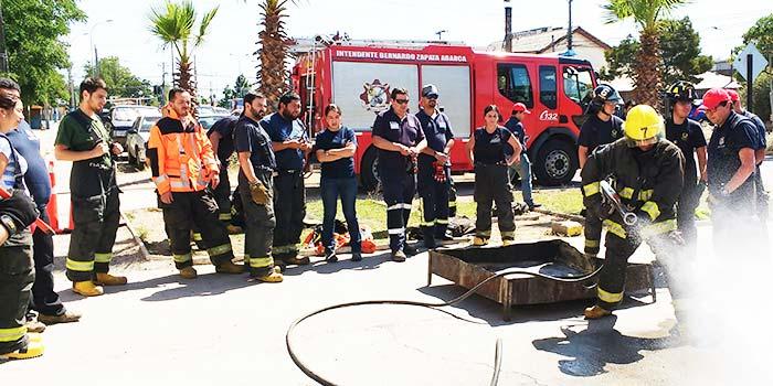 Bomberos Rancagua Realizan seminario de rescate técnico pesado