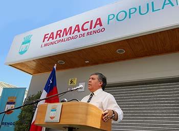 Rengo inaugura Farmacia Popular con gran asistencia de enfermos cronicos