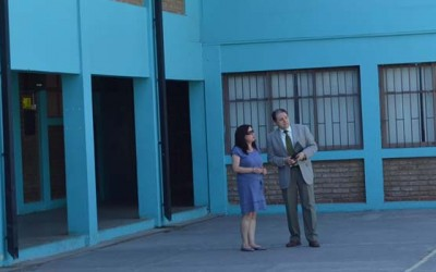 Seremi de Educacion(s) inspecciona obras de mejoramiento de infraestructura escolar en San Vicente
