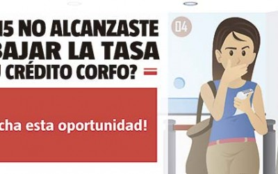 Credito Corfo se termina plazo de inscripcion para acceder a rebajas y beneficios