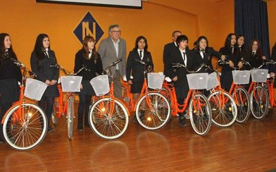 Alcalde de Rancagua continúa promoviendo uso de la bicicleta en estudiantes