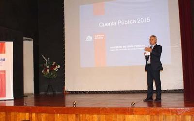 MOP entrega su cuenta publica en la comuna de San Vicente