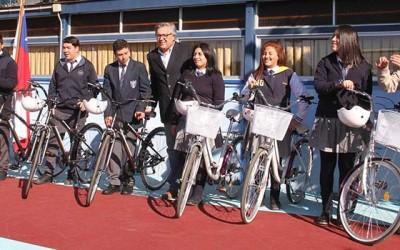 Nueva entrega de bicicletas a estudiantes de Rancagua