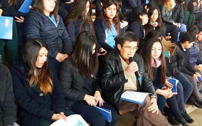 Alumnos del liceo El Tambo muestran gran interés en participar del proceso constituyente