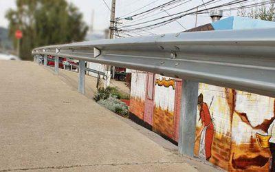 Instalan barreras de contención en distintos sectores de Machalí