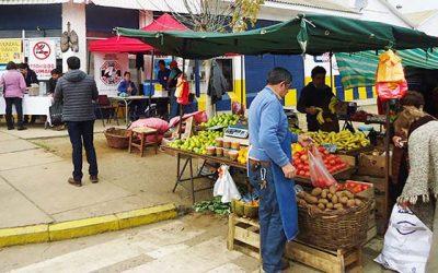 Salud Municipal y Hospital de Pichilemu realizan operativo de prevención en feria libre