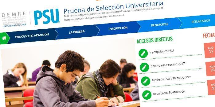 Inscripción PSU se extendió hasta el 12 de agosto