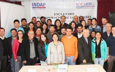 Con apuesta por mayor protagonismo terminan talleres Indap-Solmiru