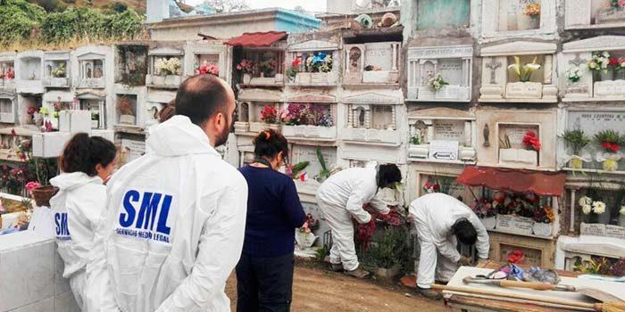 Ministro Marcelo Vásquez encabeza exhumación en causa por violación a los derechos humanos