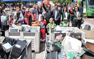 15 toneladas de residuos son recolectados en la primera feria regional del reciclaje electrónico