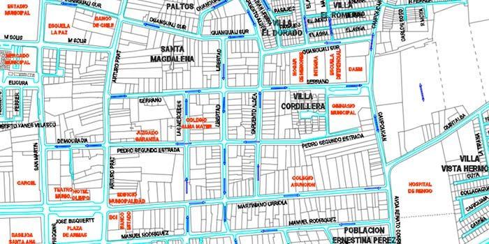25 de octubre cambio de tránsito en el centro de Rengo