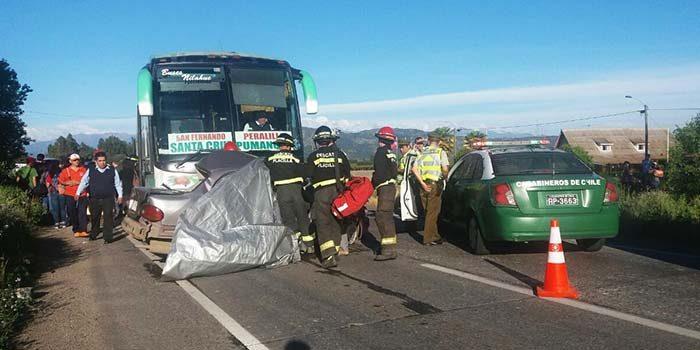 Dos fallecidos deja accidente carretero en ruta 90