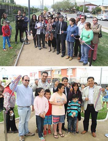 Municipio entrega dos nuevas áreas verdes a la comunidad en Rancagua