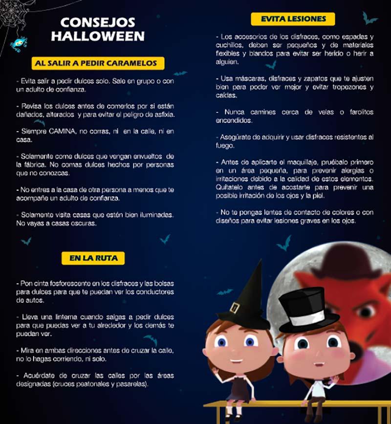 PDI Recomendaciones para celebrar este Halloween de forma segura