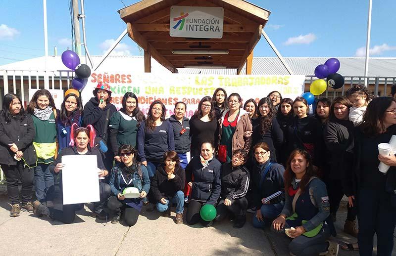 Paro nacional de trabajadoras de jardines infantiles de Fundación Integra