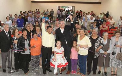 Inauguran obras de reparación de sede social de población Esperanza