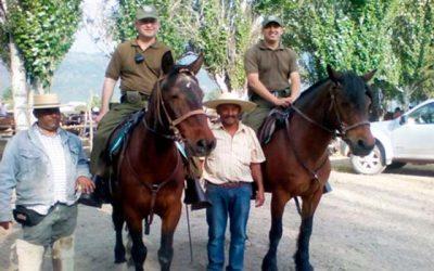Carabineros Fiscalización preventiva de animales que ingresan al sector cordillerano de Pangal