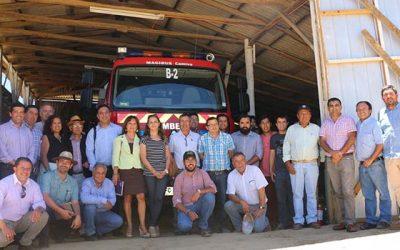 Consejeros conocen en terreno proyecto de construcción del cuartel de bomberos de Rinconada de Alcones